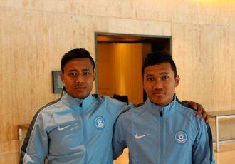Indian internationals Milan Singh and Jerry Lalrinzuala (Photo courtesy: AIFF Media)