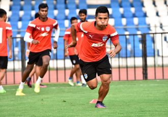 Bengaluru FC defender Sena Ralte in training at the Kanteerava Stadium, in Bengaluru (Photo courtesy: Bengaluru FC)