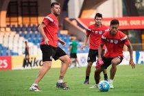 Bengaluru FC players in training at the Sree Kanteerava Stadium (Photo courtesy: Bengaluru FC)