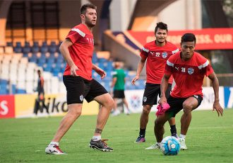 Bengaluru FC players in training at the Sree Kanteerava Stadium (Photo courtesy: Bengaluru FC)