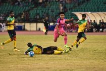 Bengaluru FC skipper Sunil Chhetri in action at the Nehru Stadium, in Chennai. (Photo courtesy: Bengaluru FC)