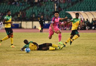 Bengaluru FC skipper Sunil Chhetri in action at the Nehru Stadium, in Chennai. (Photo courtesy: Bengaluru FC)