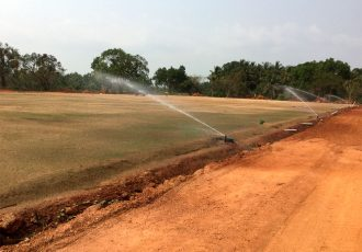 Work in progress for the new Dempo Sports Club Football Academy in Goa