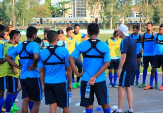 Indian national football team during a practise session (Photo courtesy: AIFF Media)