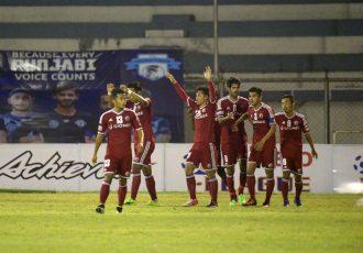 Shillong Lajong FC gather maximum against wobbling Minerva Punjab FC (Photo courtesy: I-League Media)