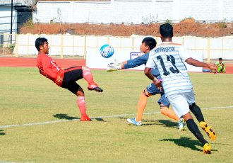 Match action during the Santosh Trophy encounter Mizoram v Maharashtra (Photo courtesy: AIFF Media)