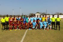 West Bengal and Services before their Santosh Trophy encounter (Photo courtesy: GFA)