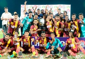 West Bengal beat Goa to lift the 71st Santosh Trophy 2017 (Photo courtesy: AIFF Media)