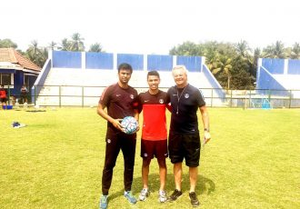 Abhishek Yadav, Namit Deshpande and Luís Norton de Matos (Photo courtesy: AIFF Media)