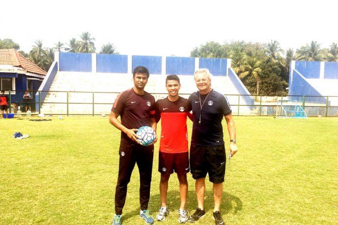 Abhishek Yadav, Namit Deshpande and Luís Norton de Matos (Photo courtesy: AIFF Media)