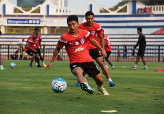 Bengaluru FC midfielder Malsawmzuala in training at the Sree Kanteerava Stadium (Photo courtesy: Bengaluru FC)