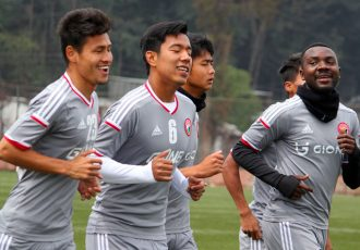 Shillong Lajong FC players during a training session (Photo courtesy: Shillong Lajong FC)