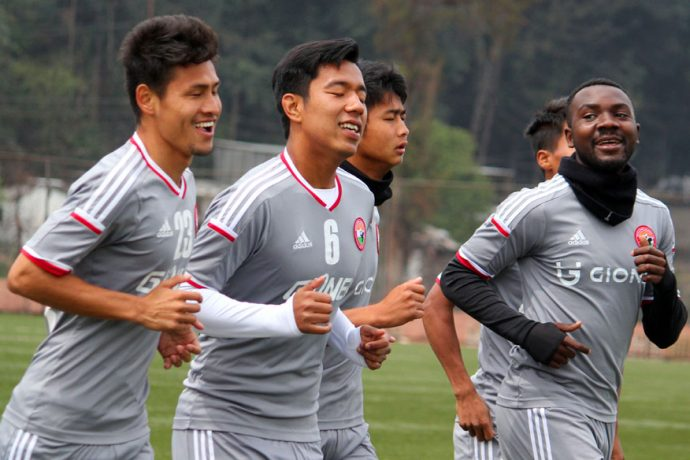 Shillong Lajong FC players during a training session (Photo courtesy: Shillong Lajong FC)
