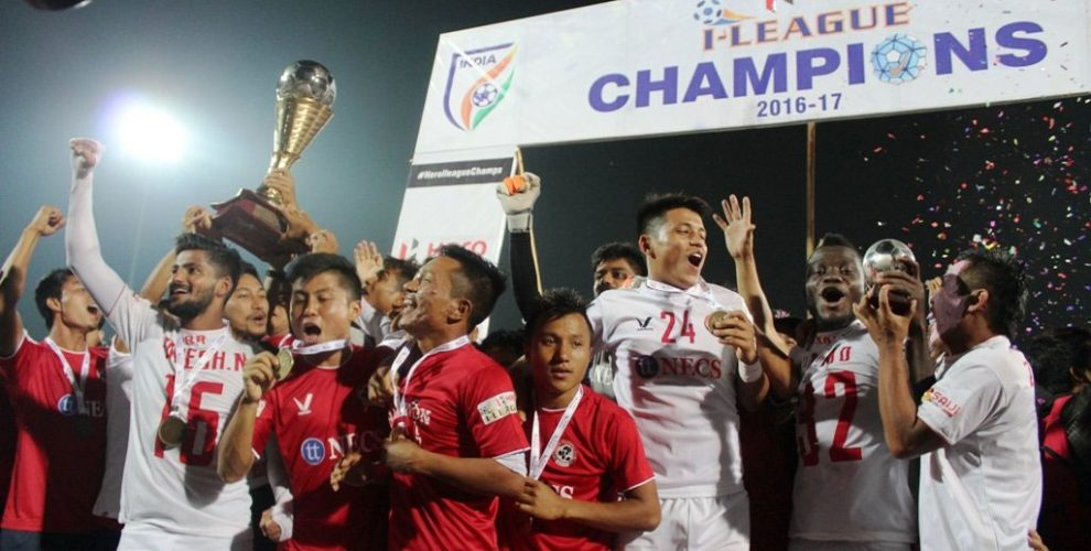 Aizawl FC crowned Champions of Hero I-League after draw against Shillong Lajong (Photo courtesy: AIFF Media)