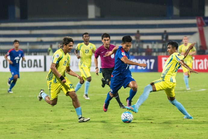 Action from the match between Bengaluru FC and Abahani Limited Dhaka at the Kanteerava Stadium, in Bengaluru (Photo courtesy: Bengaluru FC)