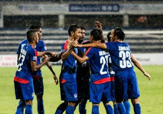 Bengaluru FC players celebrating a goal (Photo courtesy: Bengaluru FC)