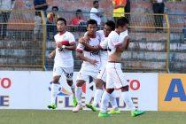 DSK Shivajians FC players celebrating a goal (Photo courtesy: I-League Media)