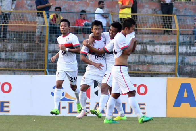 DSK Shivajians FC players celebrating a goal (Photo courtesy: I-League Media)