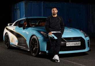 PUMA deliver Sergio Agüero's new 'wheels' with speed and style ahead of the Manchester Derby (Photo courtesy: PUMA)