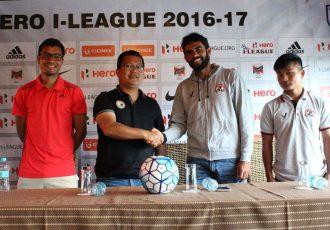 Shillong Lajong FC v Aizawl FC pre-match press conference (Photo courtesy: I-League Media)