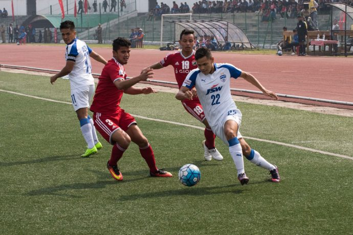 Bengaluru FC coast to victory over Shillong Lajong FC (Photo courtesy: Bengaluru FC)
