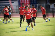 Bengaluru FC skipper Sunil Chhetri in training at the Kanteerava Stadium (Photo courtesy: Bengaluru FC)