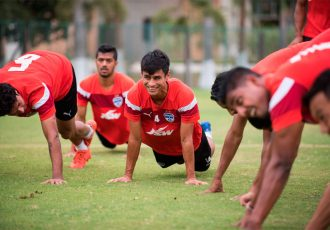Bengaluru FC midfielder Eugeneson Lyngdoh in training (Photo courtesy: Bengaluru FC)