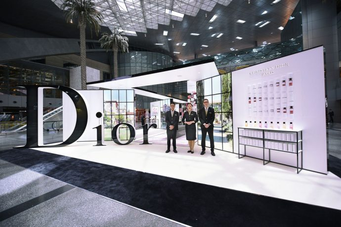 The new 'Maison de Parfum' Pavilion by Dior at the Hamad International Airport, Doha. (Photo courtesy: Qatar Airways)