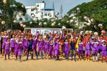 Roots Football celebrates AFC Grassroots Day with a social message (Photo courtesy: Game on Sports)