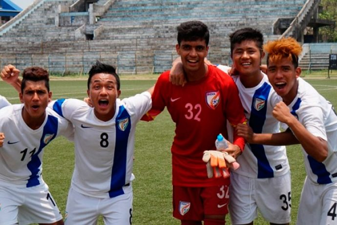 AIFF Elite Academy boys celebrating their victory (Photo courtesy: AIFF Media)