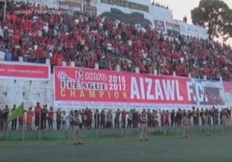 I-League champions Aizawl FC honoured with a champions parade and reception at Lammual