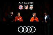 Carlo Ancelotti (FC Bayern München), Diego Simeone (Atlético de Madrid), Jürgen Klopp (Liverpool FC), Thomas Glas (Photo courtesy: AUDI AG)