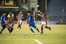 Bengaluru FC skipper Sunil Chhetri in action against Mohun Bagan (Photo courtesy: Bengaluru FC)