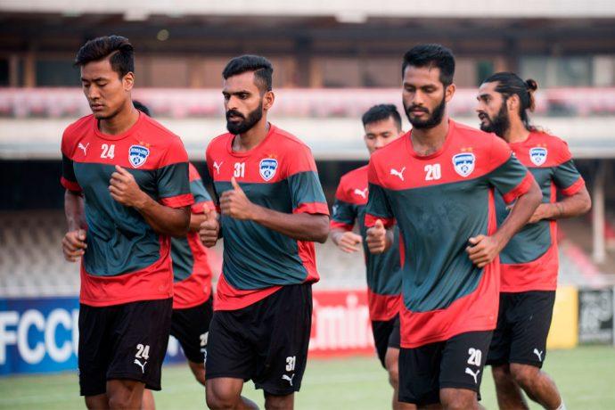 Bengaluru FC players in training at the Bangabandhu National Stadium, in Dhaka, Bangladesh (Photo courtesy: Bengaluru FC)