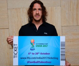 FIFA U-17 World Cup India 2017 tickets launched by Carles Puyol (Photo courtesy: FIFA U-17 World Cup India 2017 LOC)
