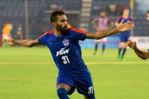 Bengaluru FC star CK Vineeth celebrating his goal in the Federation Cup final (Photo courtesy: Bengaluru FC)