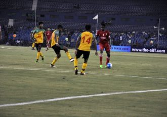 Aizawl FC come from two goals down to defeat Chennai City FC 3-2 (Photo courtesy: AIFF Media)