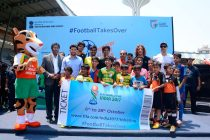 Football Takes Over Mumbai at MXIM Festival with World Cup winner Carles Puyol (Photo courtesy: FIFA U-17 World Cup India 2017 LOC)