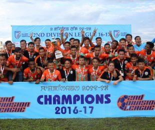 Second Division League 2016/17 champions Neroca FC (Photo courtesy: AIFF Media)