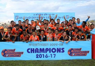 Second Division League 2016/17 champions Neroca FC (Photo courtesy: AIFF Media)