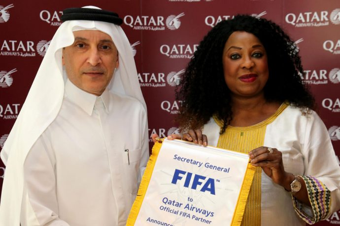 Qatar Airways announced as Official Partner and Airline of FIFA until 2022 (Photo courtesy: FIFA)