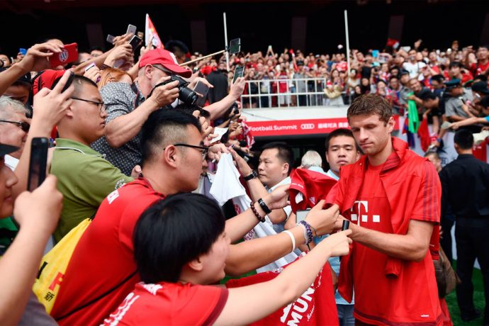 FC Bayern Munich star Thomas Müller during the Audi Football Summit in Beijing (Photo courtesy: AUDI AG)
