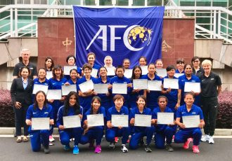 Participants of the first-ever AFC Women's Coaching Tutors Course in Shanghai, China. (Photo courtesy: AIFF Media)