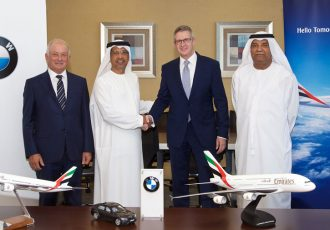 Stathis I Stathis, Managing Director, Albatha Automotive Group; Ali Mubarak Al Soori, Executive Vice President - Chairman's Office, Facilities/Projects Management and P&L, Emirates; Johannes Seibert, Managing Director BMW Group Middle East; Mohammed Mattar, Divisional Senior Vice President, Airport Services, Emirates (Photo courtesy: Emirates)