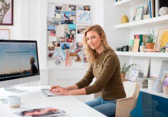 Karlie Kloss creates a website with Wix.com (Photo courtesy: Wix.com Ltd.)