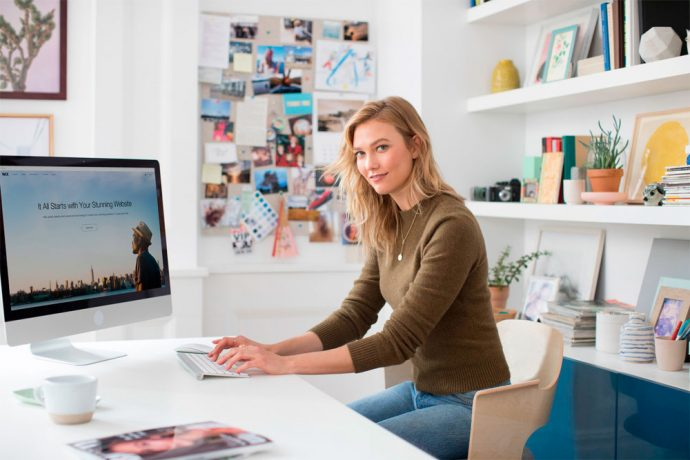 Karlie Kloss creates a website with Wix.com (Photo courtesy: Wix.com Ltd.)