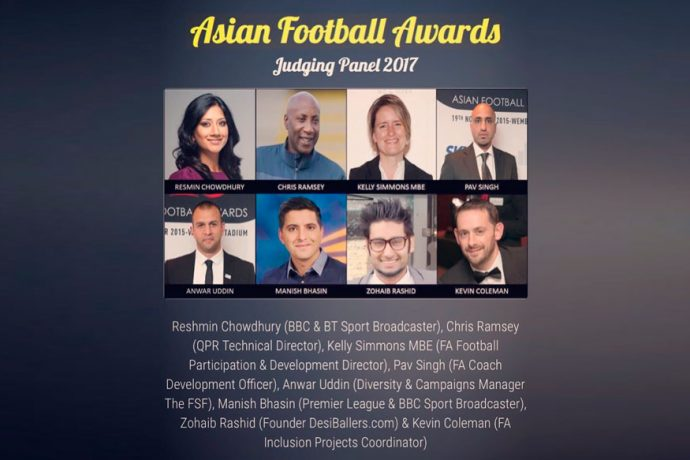 The Asian Football Awards 2017 Judging Panel announced