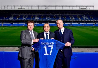 Patrick Latchford, Michael Chai and Alan McTavish in the Blackwell Global and Everton Football Club partnership deal. (Photo courtesy: Blackwell Global)