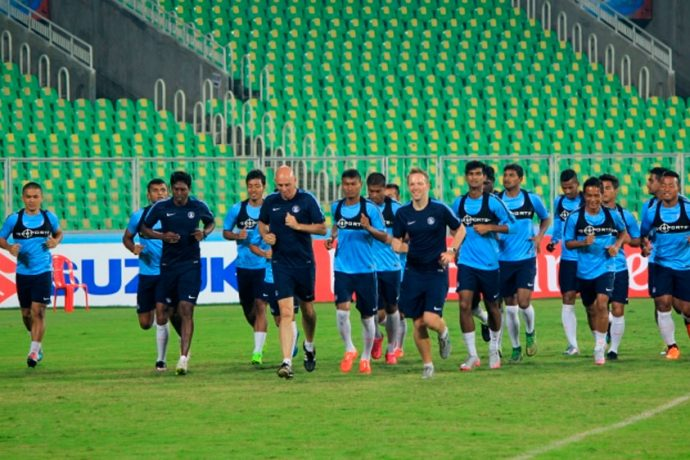 Indian national team training session in Mumbai (Photo courtesy: AIFF Media)