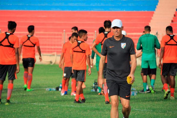 Indian national team Head Coach Stephen Constantine (Photo courtesy: AIFF Media)